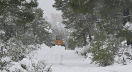 Απεγκλωβίστηκαν από το χιόνι οδηγός και εκδρομείς στα Σκούρτα στα Δεβενοχώρια