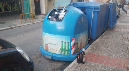 Γεμάτοι οι κάδοι ανακύκλωσης