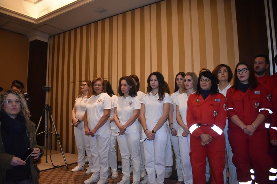 Ορκίστηκαν οι εθελοντές ου Ελληνικού Ερυθρού Σταυρού στη Λάρισα (φωτο)