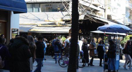 Το αδιαχώρητο σε αγορά και cafe …κυριακάτικα στη Λάρισα – Δείτε φωτογραφίες