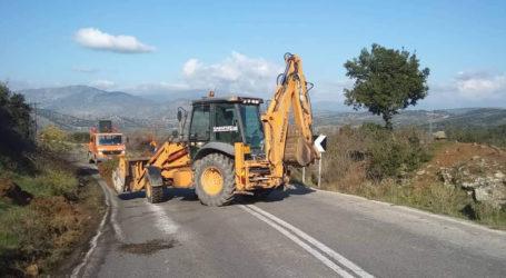 Αποκαθίσταται το οδόστρωμα στην εθνική οδό Ελασσόνας- Δεσκάτης