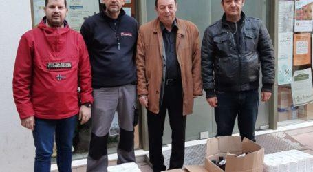 Σημαντική προσφορά τροφίμων από το Σύνδεσμο Ηλεκτρολόγων Εγκαταστατών Νομού Λάρισας στο Κοινωνικό Παντοπωλείο