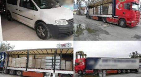 Στο εδώλιο των Δικαστηρίων Λάρισας: Μετέφεραν 13.040 φιάλες λαθραία ποτά από τη Βουλγαρία και συνελήφθησαν κοντά στο Βελεστίνο