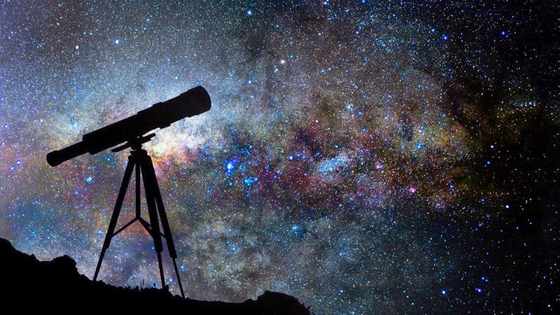 stars in sky and telescope