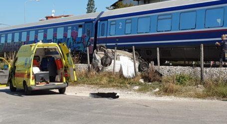 Τρένο παρέσυρε αυτοκίνητο έξω από τη Λάρισα – Ένας τραυματίας
