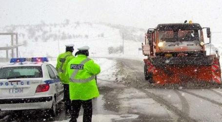 Πήλιο: Κλειστός ο δρόμος Χάνια – Κισσός λόγω σφοδρής χιονόπτωσης
