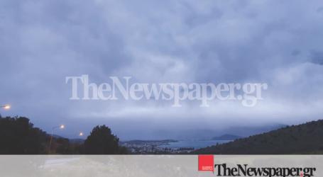 Σπάνιες εικόνες – Έτσι φαίνεται ο Βόλος από τον Σωρό μέσα από τα σύννεφα!
