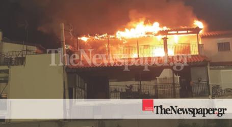 ΤΩΡΑ: Μεγάλη φωτιά σε σπίτι στη Ν. Ιωνία Βόλου [εικόνες και βίντεο]