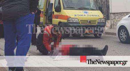 ΤΩΡΑ: Τροχαίο ατύχημα στον Βόλο – Μηχανάκι παρέσυρε ηλικιωμένη [αποκλειστικές εικόνες]