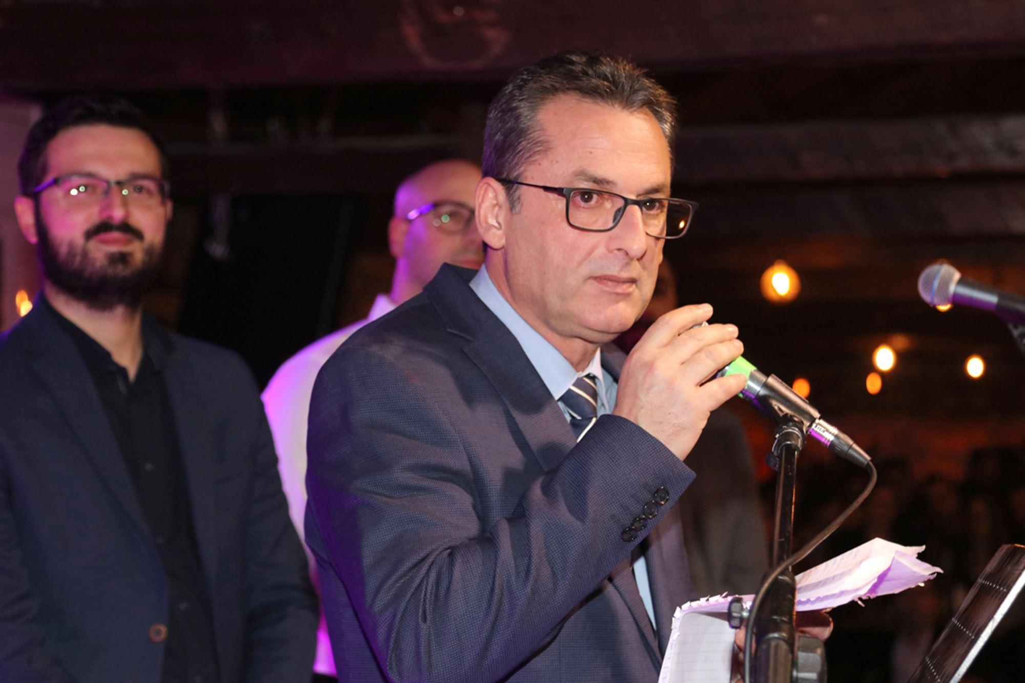 Τιμητική αναφορά στον Γ. Σουφλιά στην κοπή πίτας του Γεωπονικού Συλλόγου Λάρισας