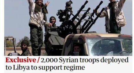 Εμπλοκή 2.000 μισθοφόρων της Τουρκίας στη Λιβύη