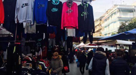 Βόλος: Δύο συλλήψεις στη λαϊκή αγορά για παρεμπόριο