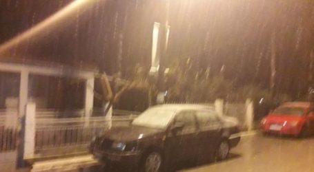 Ξεκίνησε να χιονίζει στα ορεινά της επαρχίας Φαρσάλων (βίντεο)