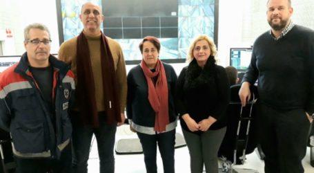 Το Σωματείο Εργαζομένων του ΕΚΑΒ στα κεντρικά γραφεία της εταιρείας Αυτοκινητόδρομος Αιγαίου
