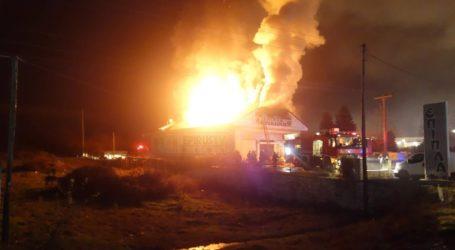 Φωτιά σε κτήριο στην Ε.Ο Ιωαννίνων