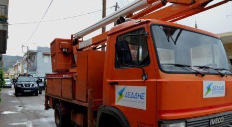 Συνεχίζονται οι εργασίες για την αποκατάσταση της ηλεκτροδότησης