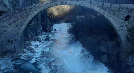 Πάγωσε το ποτάμι στο Ζαγόρι