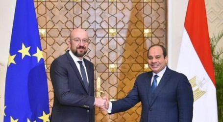 Συνάντηση Αλ Σίσι με τον πρόεδρο του Ευρωπαϊκού Συμβουλίου Σαρλ Μισέλ
