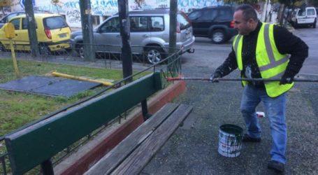 Παρέμβαση καθαριότητας και συντήρησης στην πλατεία Αττικής από τον Δήμο Αθηναίων
