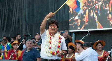 Ο Μοράλες οργάνωσε «εορταστική» εκδήλωση για το τέλος της προεδρικής του θητείας