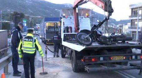 Τροχαίο δυστύχημα στον Σκαραμαγκά από σύγκρουση μηχανής με λεωφορείο