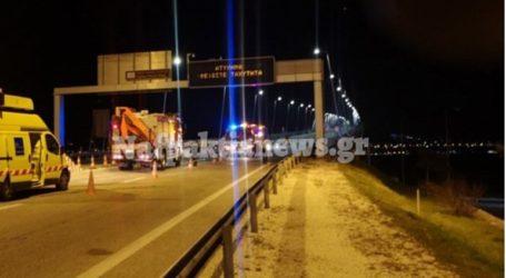 Γέφυρα Ρίου – Αντιρρίου: Αυτοκίνητο ανετράπη λίγο μετά τα διόδια