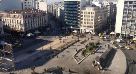Τον Φεβρουάριο θα ολοκληρωθεί η ανακατασκευή της πλατείας Ομονοίας