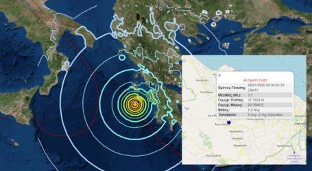 Σεισμός 3,7 Ρίχτερ στη Ζάκυνθο
