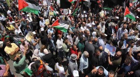 Παλαιστίνιοι διαδηλώνουν στη Γάζα κατά του σχεδίου ειρήνης των ΗΠΑ