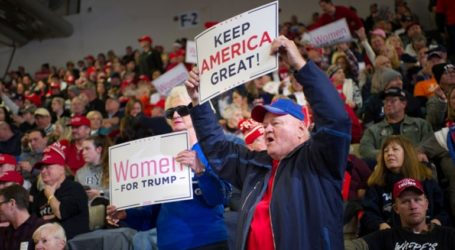 Πανηγυρικό κλίμα στο Νιου Τζέρσεϊ για την πρώτη προεκλογική ομιλία του προέδρου Ντόναλντ Τραμπ