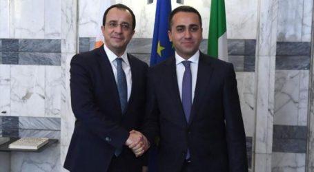 Συνάντηση Λουίτζι ντι Μάιο με το Κύπριο ΥΠΕΞ Νίκο Χριστοδουλίδη