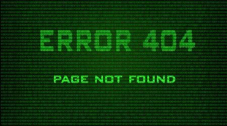 30028465 error 404 page not found error message in the form of binary code vector