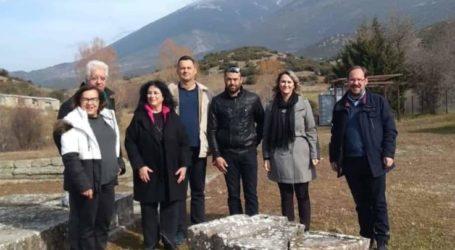 Στον αρχαιολογικό χώρο Πυθίου η Άννα Βαγενά