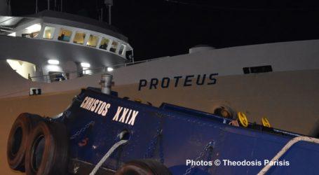 Σκιάθος: Έδεσε στο λιμάνι ο «Πρωτέας» – Τι λέει ο δύτης που εξέτασε το πλοίο [εικόνες]