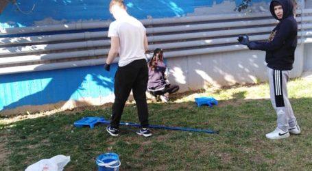 Βόλος: Έβαψαν το σχολείο τους και δημιούργησαν κήπο [εικόνες]
