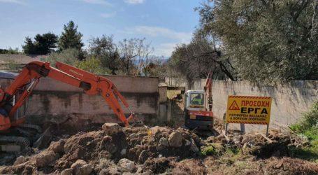 Ξεκίνησαν οι εργασίες για το ρέμα της Παιδόπολης Αγριάς