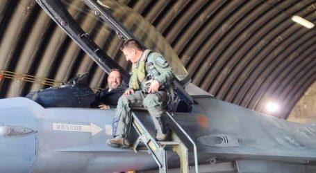 Σε F-16 ανέβηκε ο Κωνσταντίνος Μαραβέγιας [εικόνες]