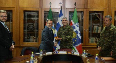 Στην 1η Στρατιά σπουδαστές της Διπλωματικής Ακαδημίας του Υπουργείου Εξωτερικών