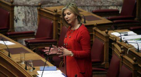 Ζέττα Μακρή στην Ολομέλεια της Βουλής: «Το νέο εκλογικό νομοσχέδιο θωρακίζει την πολιτική σταθερότητα»
