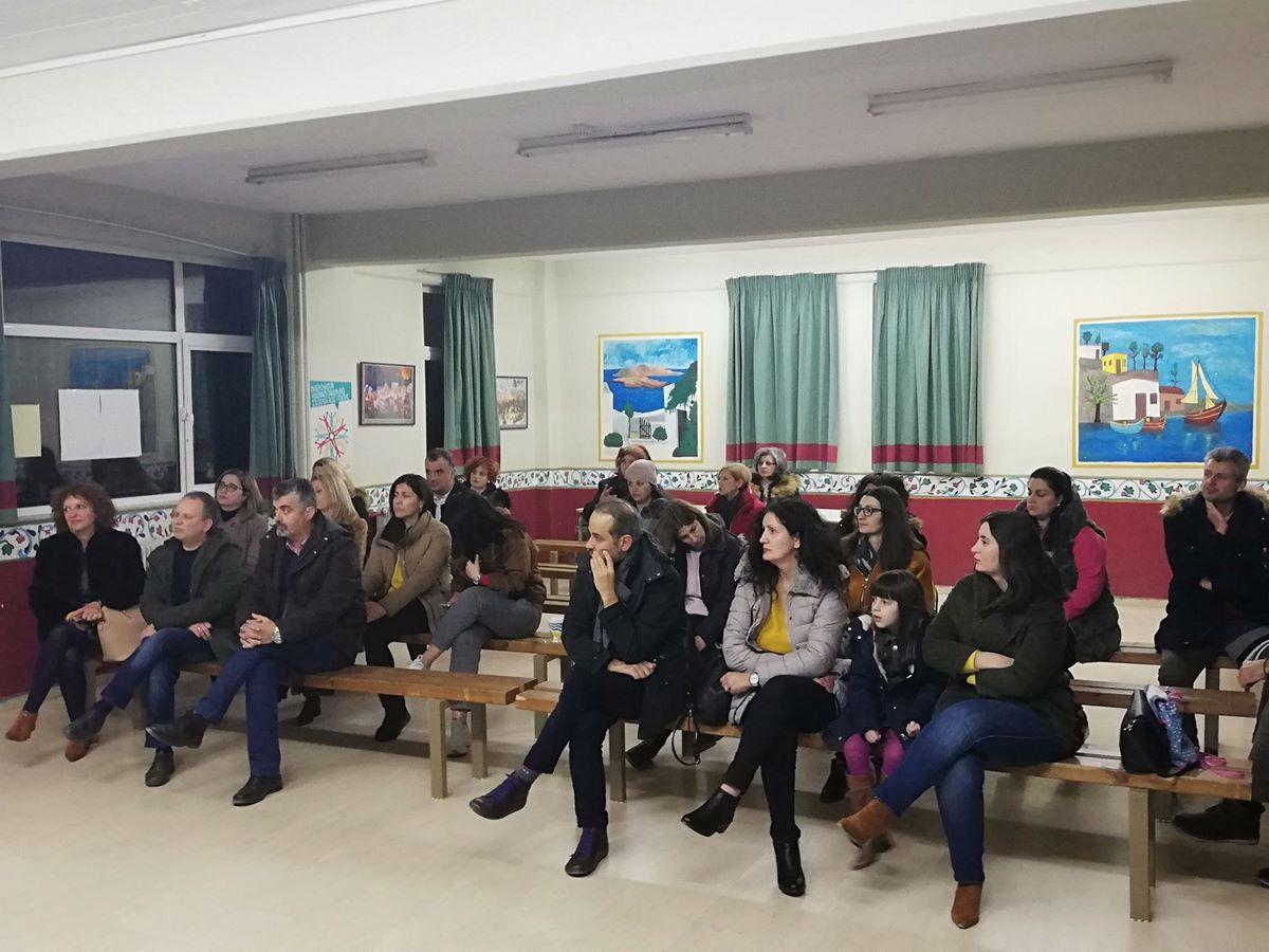 Ενημερωτική Ομιλία Επειγουσών Πρώτων Βοηθειών σε παιδιά στο 8ο Γυμνάσιο Λάρισας