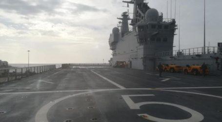 Το θηριώδες γαλλικό ελικοπτεροφόρο πλοίο «Dixmude» στον Βόλο [εικόνες]