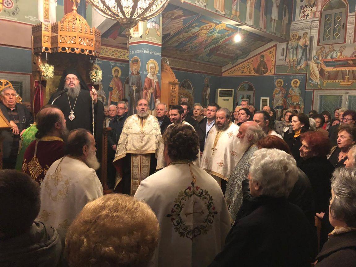 Στον εορτάζοντα Ι.Ν. του Αγίου Ευθυμίου στο Συκούριο ο Γιώργος Μανώλης