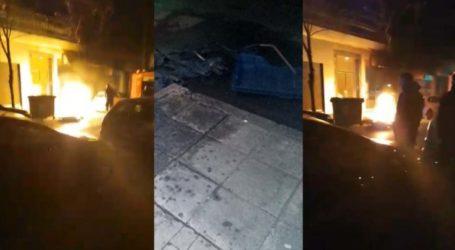 Αναστάτωση στο κέντρο της Λάρισας από φωτιά σε κάδους – Δείτε βίντεο