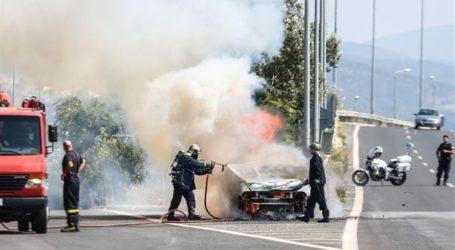 Φωτιά σε επαγγελματικό αυτοκίνητο στη Νέα Αγχίαλο