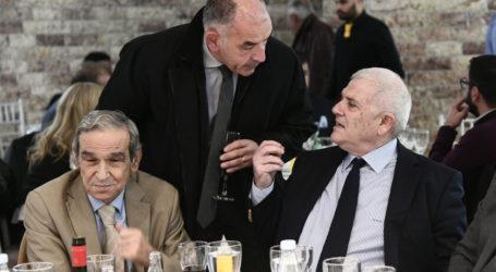 Στην κοπή πίτας της ΕΠΣΑΝΑ Μελισσανίδης και Θωμάς Μητρόπουλος!