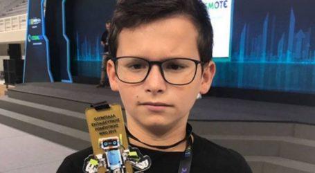11χρονος Λαρισαίος έγινε χάλκινος στην Ρομποτική Ολυμπιάδα (φωτο)