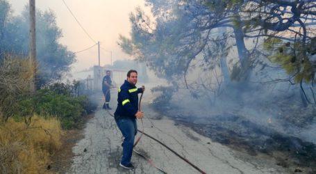 Φωτιά σε χωριό του Πηλίου – Ξεκίνησε από σπίτι και επεκτάθηκε