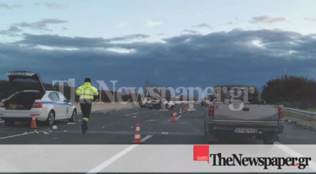 Σοβαρό τροχαίο στην εθνική οδό – Εγκλωβίστηκαν Βολιώτες [εικόνες]