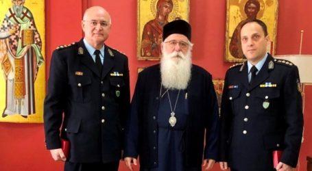 Στον Μητροπολίτη Δημητριάδος ο νέος Αστυνομικός Διευθυντής Μαγνησίας
