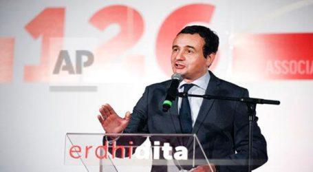 Συμφωνήθηκε ο σχηματισμός κυβέρνησης συνασπισμού με πρωθυπουργό τον 'Αλμπιν Κούρτι